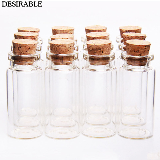 9de8e59a2198 10Pcs 10ml Wish Bottles Tiny Small Empty Clear Cork Glass Bottles Vials For  Holiday Wedding home Decoration Christmas Gifts-in Storage Bottles & Jars  ...