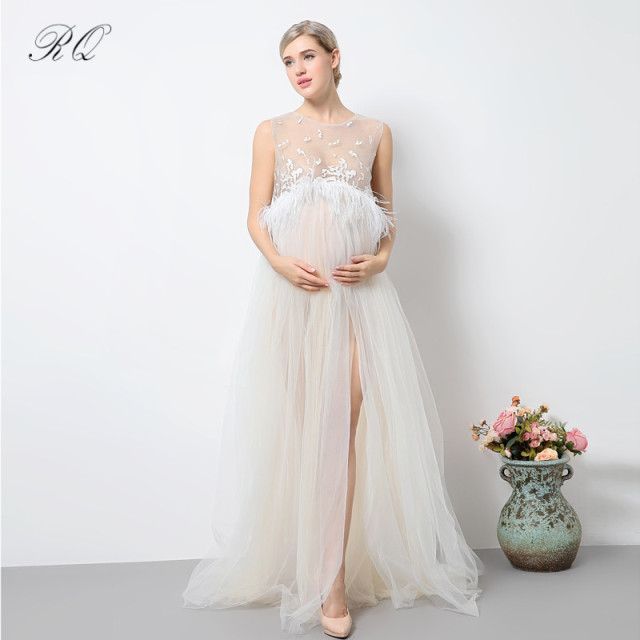 5d8979634a4ae RQ Maternity Dress 2017 New Women Maternity Photography Props Elegant Pregnancy  Clothes Maternity Dresses Q139