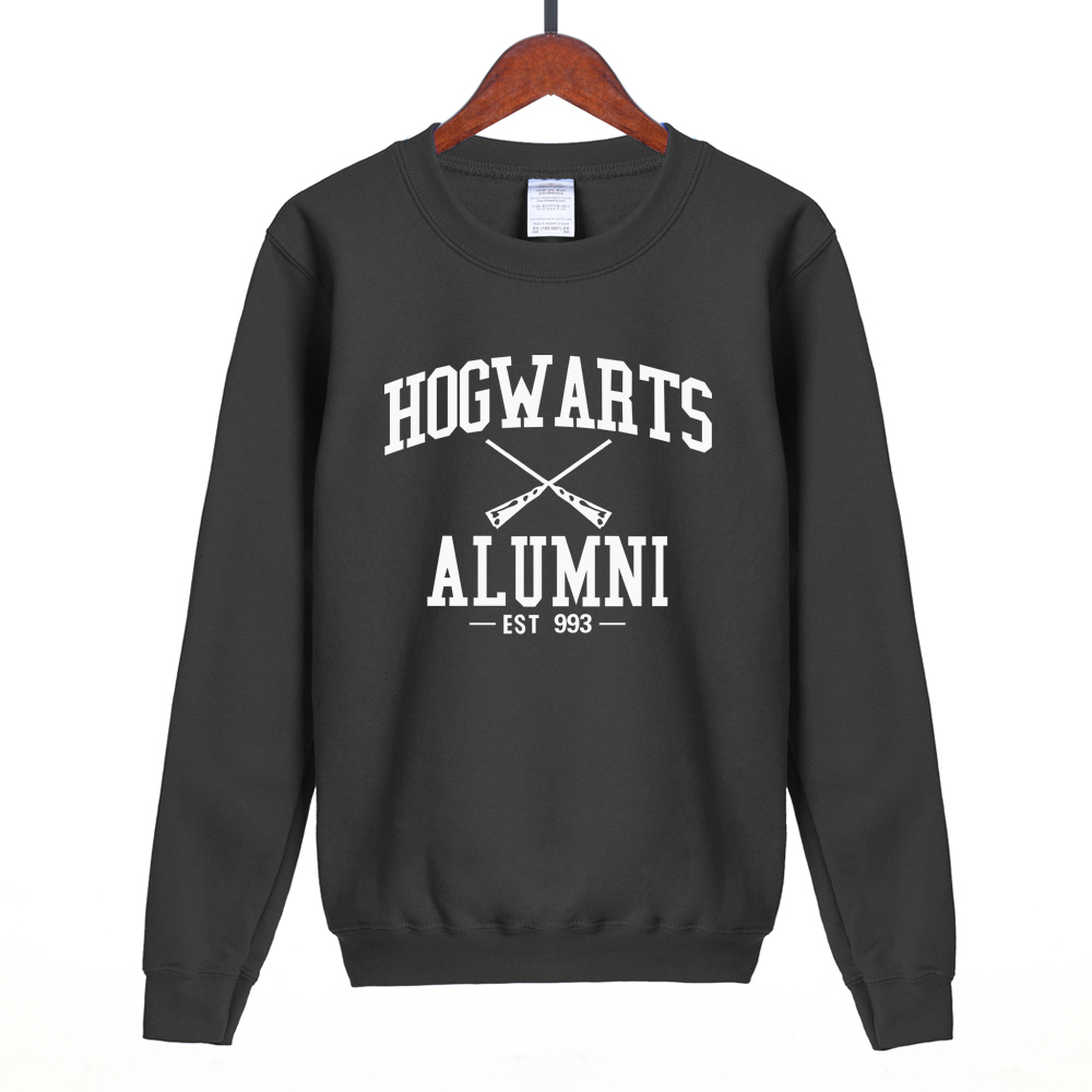 hot sale for movie fans Inspired Magic Hogwarts Alumni printed women sweatshirt 2018 spring winter new style fleece hoodie S-2XL