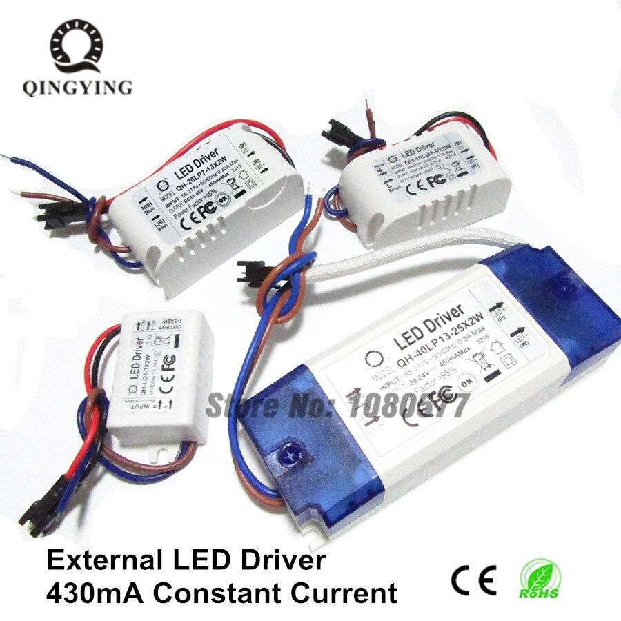 Constant Current 450mA LED Driver 1W 5W 10W 20W 30W 36W Lamp Lighting Transformers 5 10 20 30 w Watt Outdoor Lights Power Supply цены