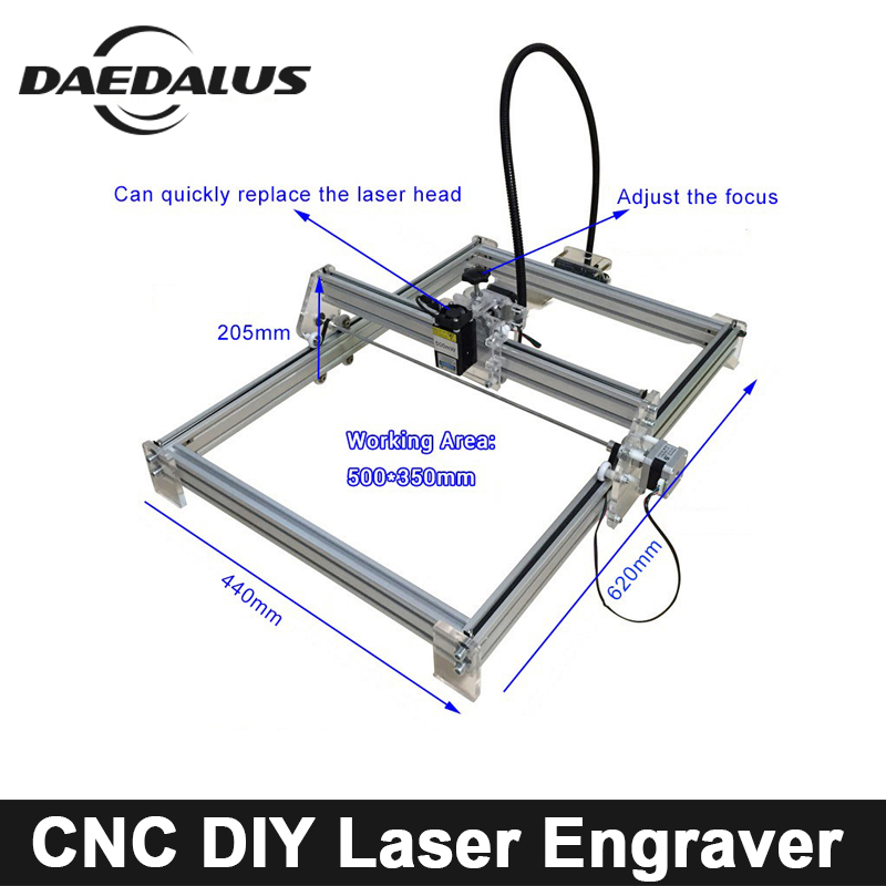 цена на 500mw/2500mw/5500mw CNC Laser Engraver 350mm*500mm Laser Router Machine DIY MINI Wood Router For Cutting Engraving Milling Tools