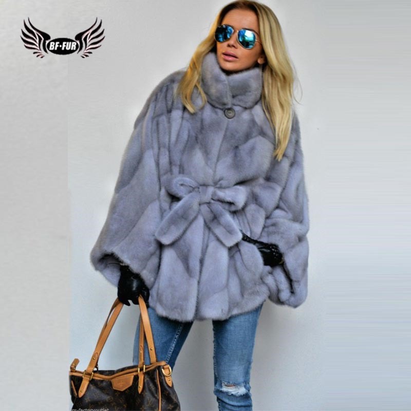Models Mink Fur Fashion Slim Winter Women's Park With Natural Fur Long Coat Women Full Pelt Luxury Brand Jacket Party Dress