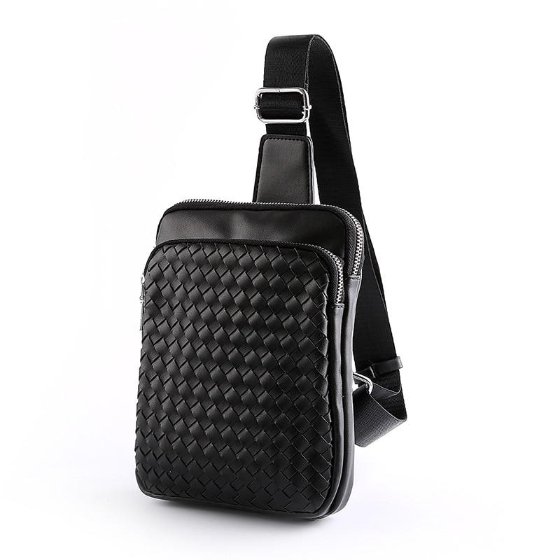 2016 new developed chest pack trend small leisure male Korean men s woven handbags