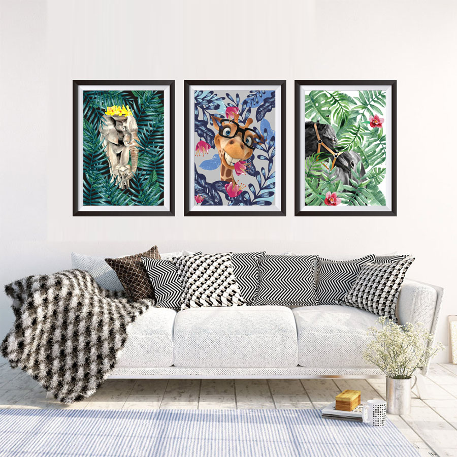 Frameless Animal In Jungle Set Unframed Canvas Paintings Nordic Home ...