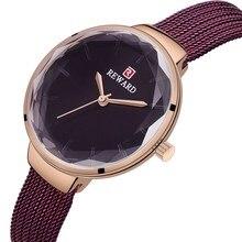 Womens Fashion High-grade Luxury Watches Women Quartz Watch Lady Steel Mesh Watchband Casual Waterproof Gift for Wife
