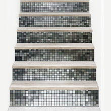 Gold silver Mosaics Self-adhesive 3D Stairs stickers decoration Attic art muurstickers home decor vintage poster