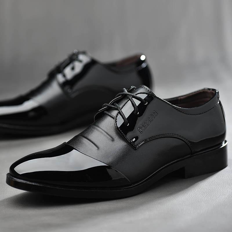 2018 chocolat Hommes Plus En 38 Bureau Taille Noir La De Qiyhong Appartements Mode Occasionnels Bout Chaussures Confortable Cuir Rond Robe 48 dtwxSR