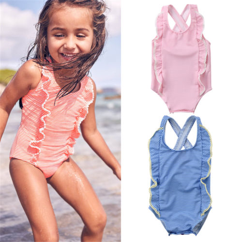 6d58d631771 US $4.74 5% OFF|Newborn Baby Kids Girls One piece Striped Swimsuit Little  Girl Swimwear Bathing Suit Beach Bikini Summer Clothing-in Children's ...