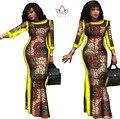 Brw verão vestidos africanos para as mulheres party dress plus size 6xl impressão cera dashiki africano bazin riche algodão vestidos wy304