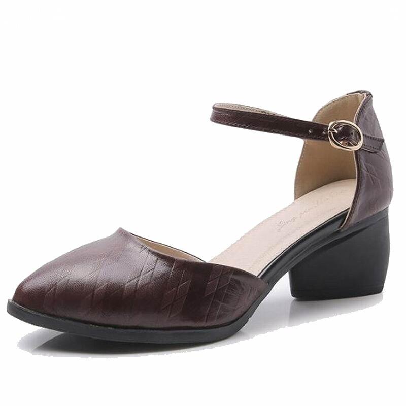 Véritable Talons Cuir Hauts En Femme D'été Femmes Sandales Brown Sandale Talon Chaussures yellow marron T6961 De Carré 2018 Noir v7qwz