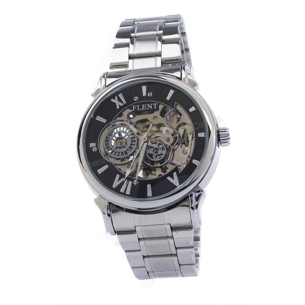 popular engraved wrist watches for men buy cheap engraved wrist men s automatic hollow engraving dial skeleton watch silver stainless steel band self winding wrist watchs