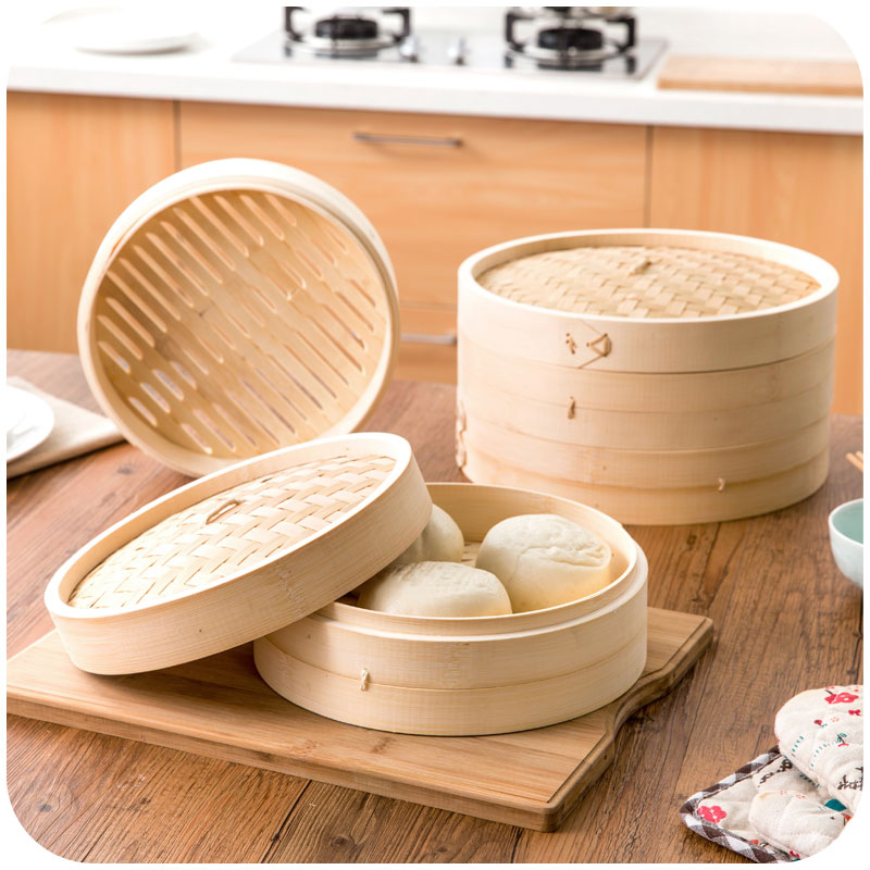 Small Steamer Basket Bun Bamboo Steamer Basket Covers Cooking Tools Household Items Kitchen Accessories
