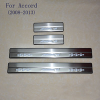 Car Styling FIT for HONDA Accord 2008 2013 Door Sill Scuff Pedal Door Step Welcome Pedal Automobile Accessories