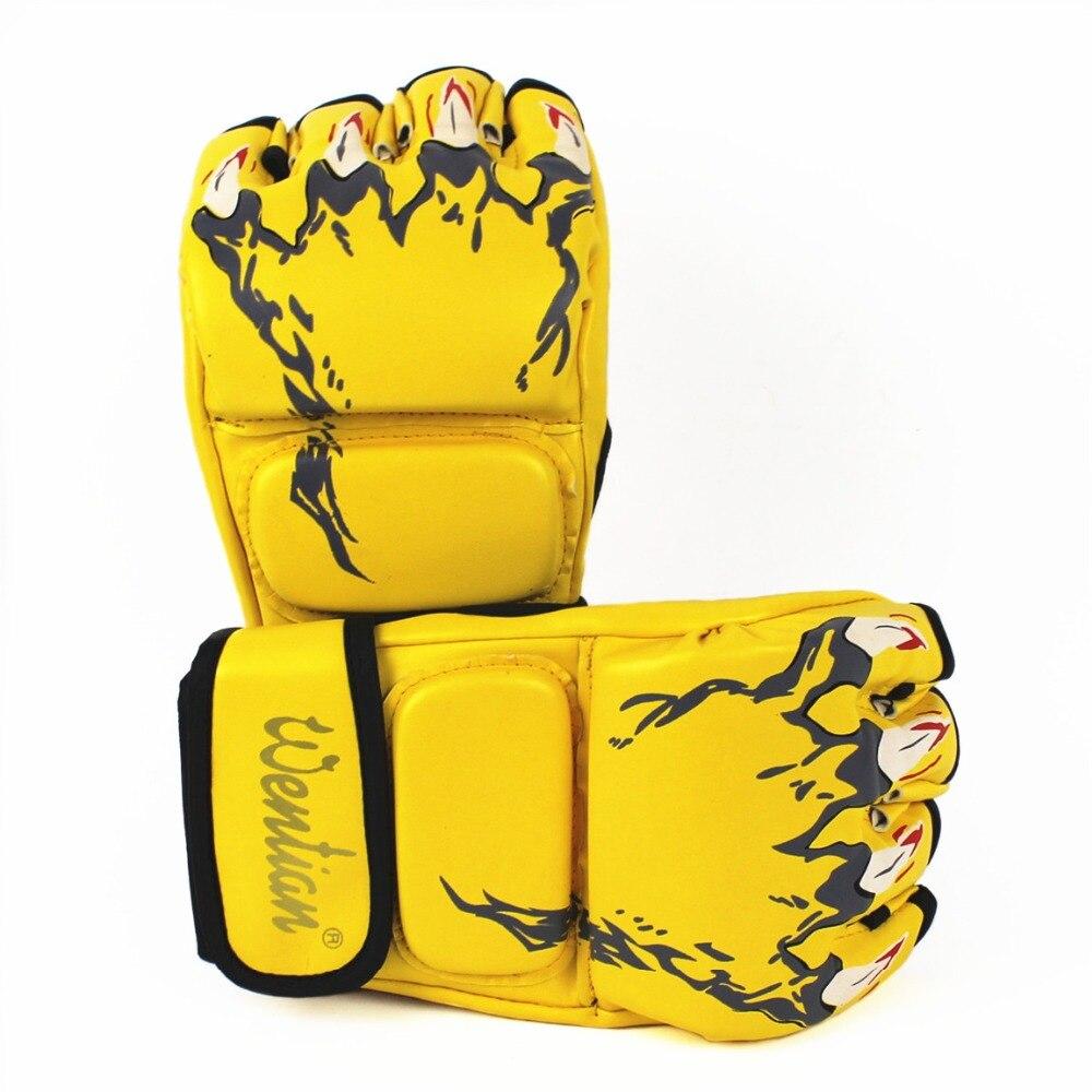 Adult Thick Boxing font b Gloves b font MMA font b Gloves b font Half inger