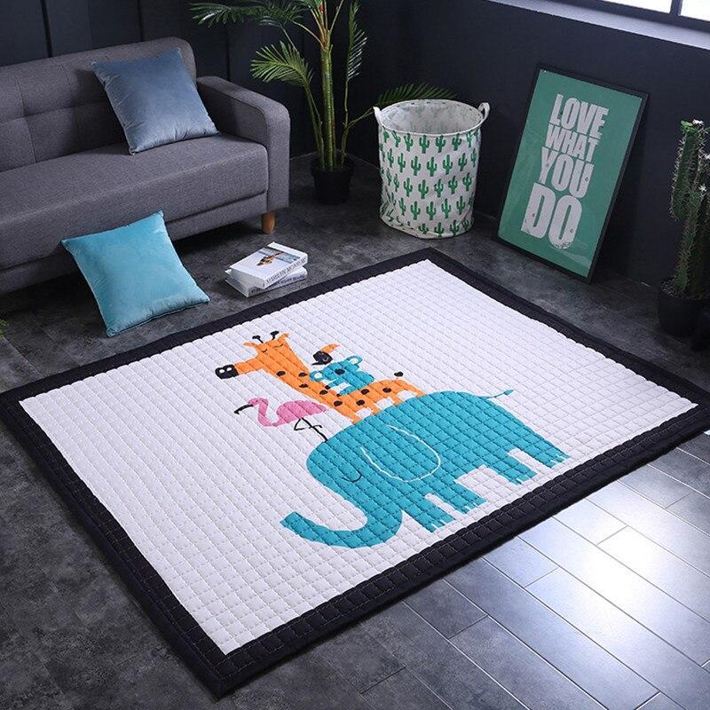Tapis de jeu pour bébé brillant pour bébé tapis de dessin animé pour enfants tapis en daim pour salon