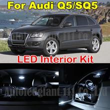 22X White Car Led Dome Map Mirrors Puddle Trunk Lighting Package for Audi Q5 SQ5 LED Canbus Interior Light kit 2009-2013