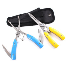 HiUmi Lot Fishing Pliers Carbon steel Fishing PE Line Cut Pesca Fish Knife tackle Lure Hook Remover Line Cutter Scissors