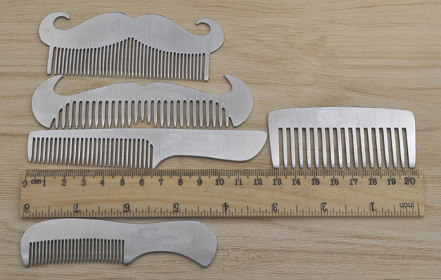 ZGTGLAD stainless steel beard comb anti-static Mustache Brush Gentleman Hair shaping Tools 1
