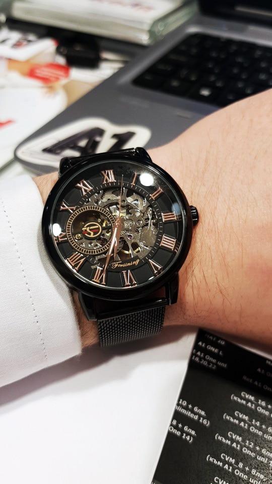 HTB19O3OaUGF3KVjSZFvq6z nXXa5 Forsining Retro Fashion Design Skeleton Sport Mechanical Watch Luminous Hands Transparent Mesh Bracelet For Men Top Brand Luxury