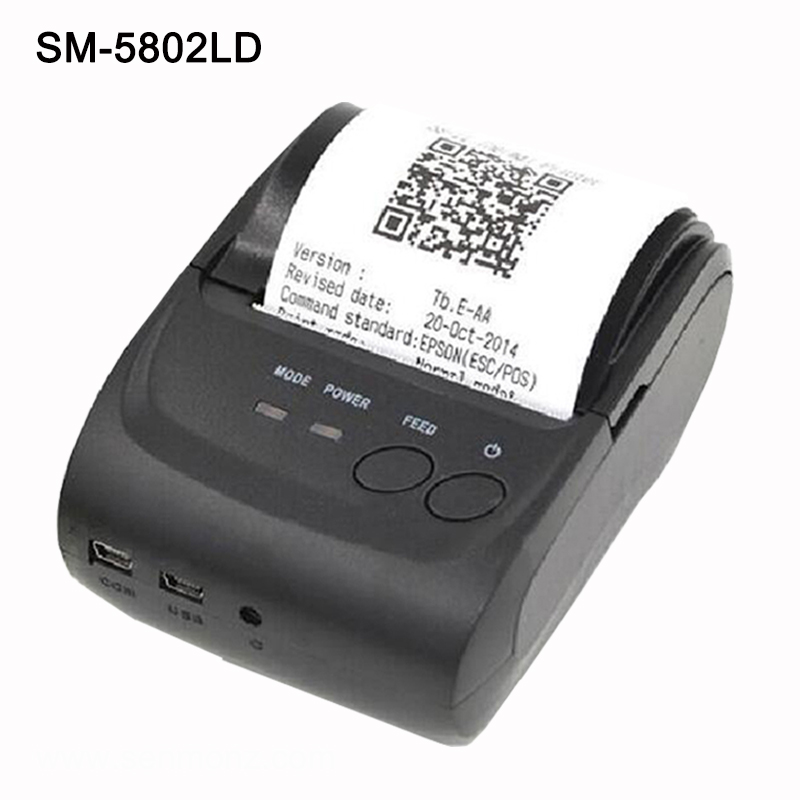 Free SDK Wireless Android Bluetooth Thermal Printer 58mm Mini Bluetooth Thermal Receipt Printer - Bluetooth Android 58mm mini bluetooth printer android thermal printer wireless receipt printer mobile portable small ticket printer