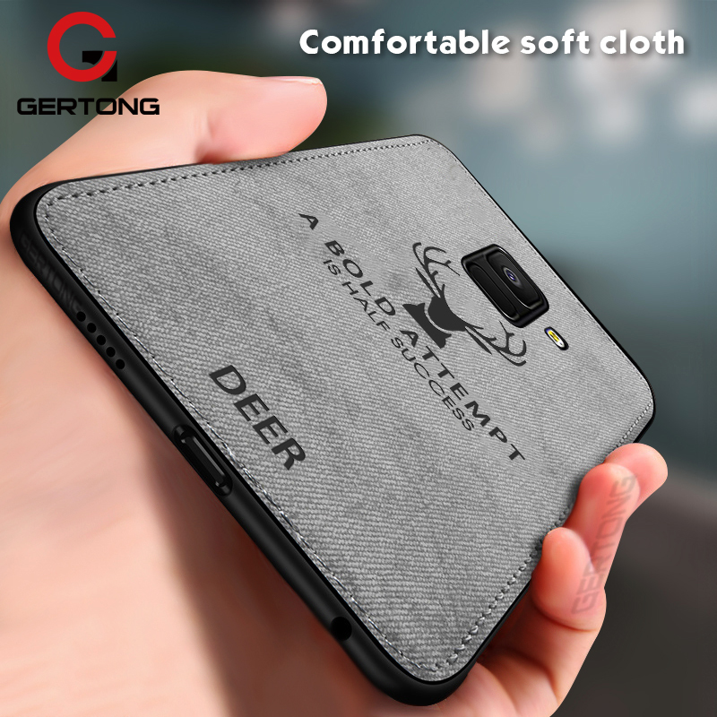 Deer Cloth Texture Phone Case For Samsung <font><b>Galaxy</b></font> A8 A6 J4 J6 Plus <font><b>2018</b></font> J5 J7 J3 2017 Note 9 <font><b>8</b></font> S8 S9 S10 Plus S10e Business Cover image