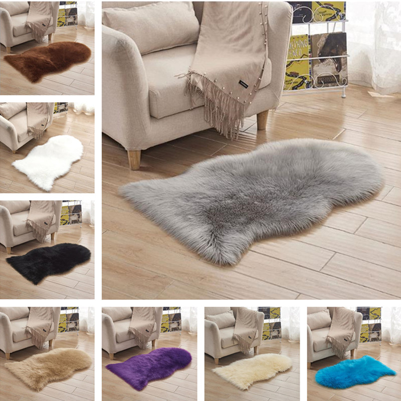Luxury Sheepskin Carpet Faux Fur Rug Livingroom Table Soft