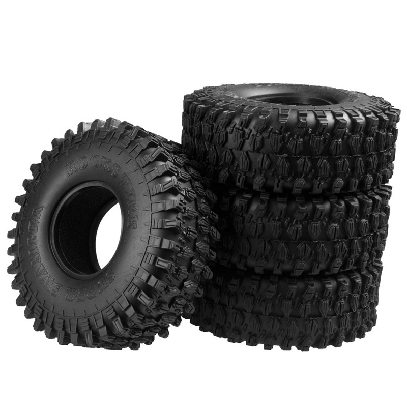 4PCS 1.9'' 120MM Truck Wheel Tire For 1:10 RC Rock Crawler Wheels SCX10 90047 RC4WD D90 D110 TF2 Traxxas TRX-4 Model Accessory 4pcs rc crawler 1 10 wheel rims beadlock alloy 1 9 metal rims rock crawler wheel hub parts for rc car traxxas rc4wd scx10 cc01