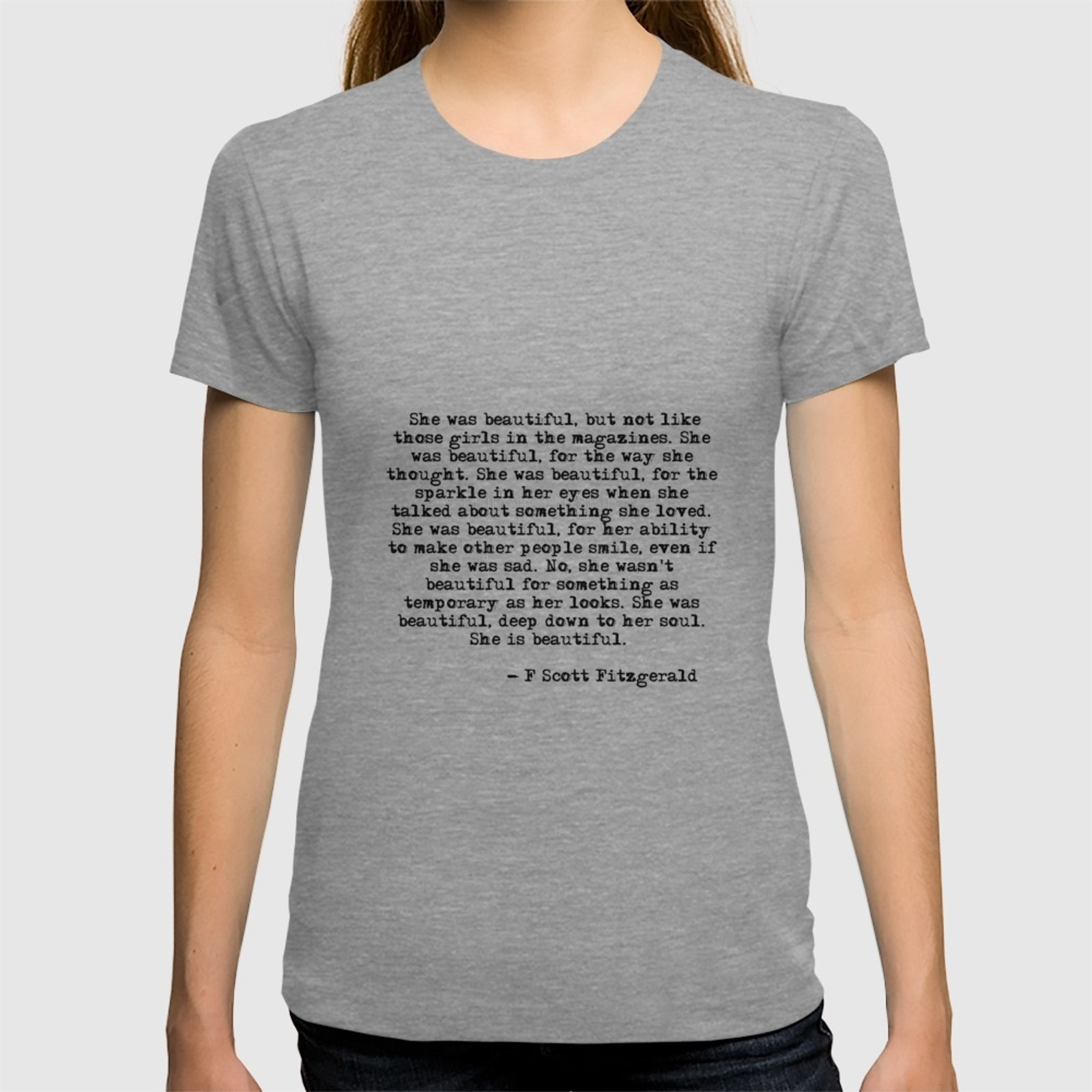 b8a53f80 She was beautiful Fitzgerald quote T shirt Summer Fashion Men's Short  Sleeve T Shirt-in T-Shirts from Men's Clothing on Aliexpress.com | Alibaba  Group