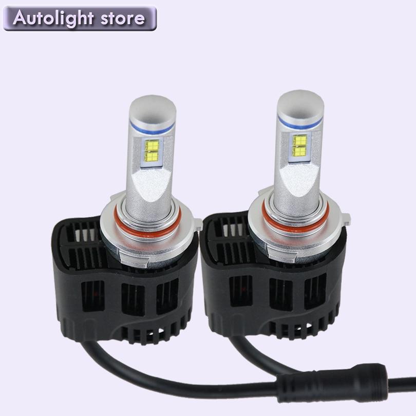 ФОТО Super bright 55W 5200LM powerful 9012 Hir2 LED HeadLight kits 4300k Bulb Car 9012 LED Headlamp