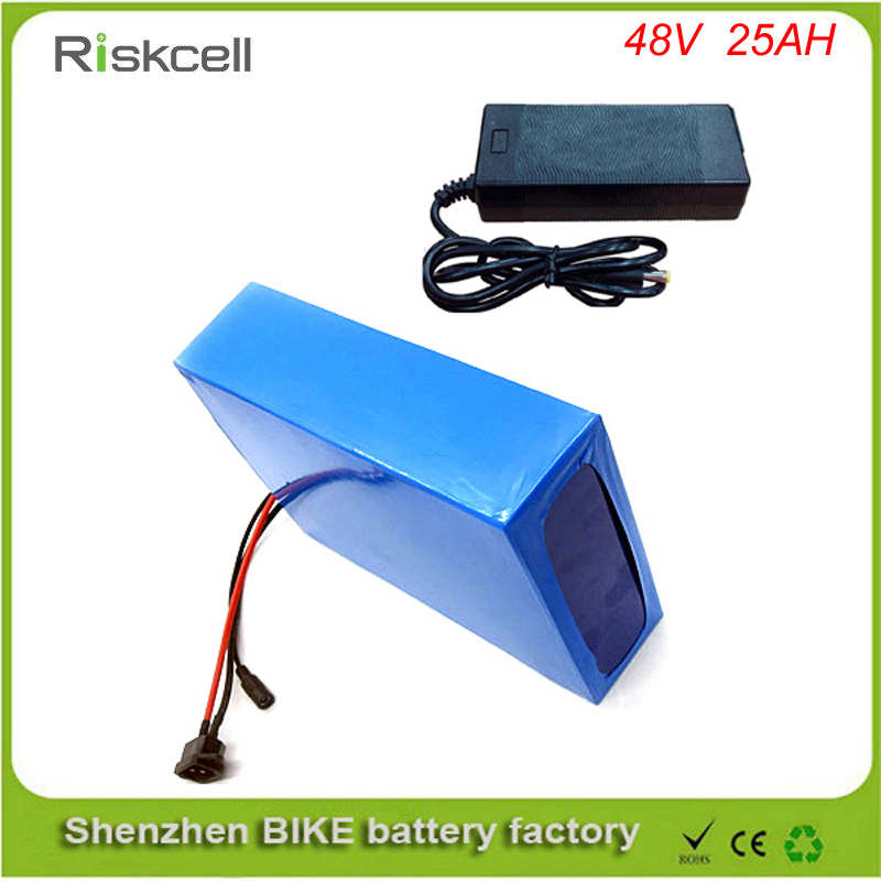 ebike lithium battery 48v 25ah lithium ion bicycle 48v 1000w  electric scooter battery for kit electric bike with BMS , Charger 48v 34ah triangle lithium battery 48v ebike battery 48v 1000w li ion battery pack for electric bicycle for lg 18650 cell