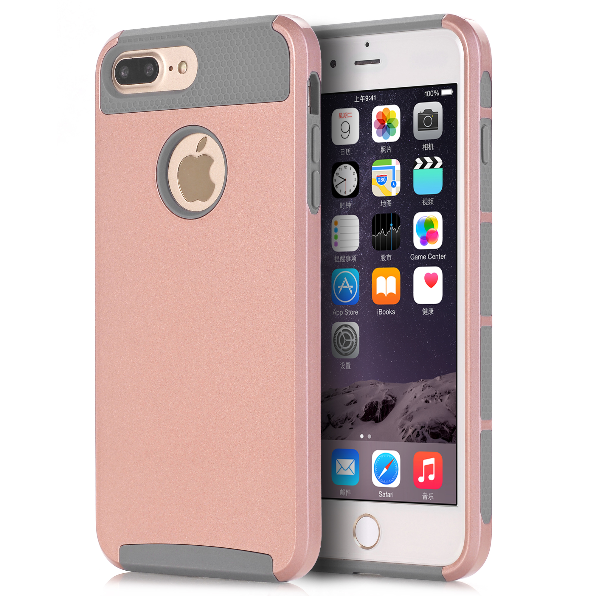 Case Cover for Apple iPhone 7 / 7 Plus,WeFor Hybrid Heavy Duty Case 2-in-1 Style Hybrid Hard For iPhone 7 / 7Plus Case Covers