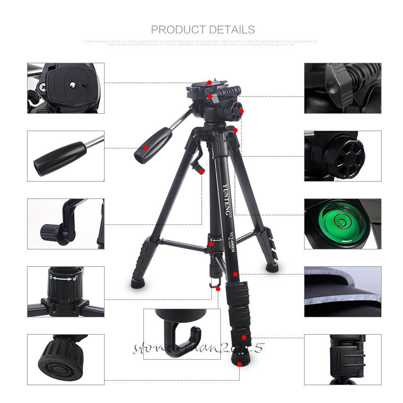 Universal Holder+YUNTENG Camera 3-Way Damping Head Tripod For Canon EOS 60D T3i 7D 5D EF Rebel/For S8 S7 Note Plus P10 Cellphone лобзик p i t pst65 d