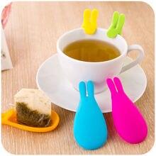 2 шт силиконовая форма в виде кролика чайный пакетик держатель для заварки геля фантастический случайный цвет домашние кухонные инструменты