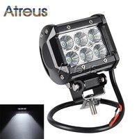 Atreus 1Pc 18W Car LED Work Light Bar 12V Spot Flood DRL Fog Lamp Car Styling
