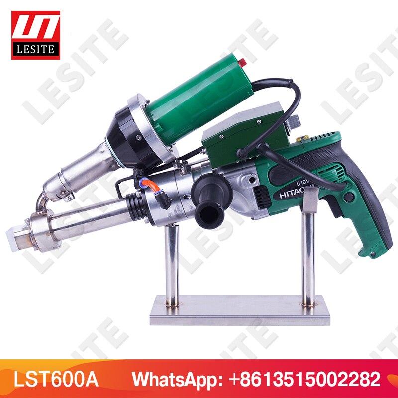 LESITE 3400 W Handheld extrusora de extrusão de plástico máquina de solda de ar quente plastic welder gun para PP folha de PEAD geomembrana LST600