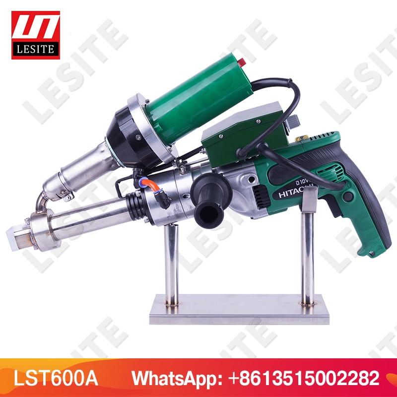 LESITE 3400W Handheld extruder plastic extrusion welding machine hot air plastic welder gun for PP HDPE sheet geomembrane LST600