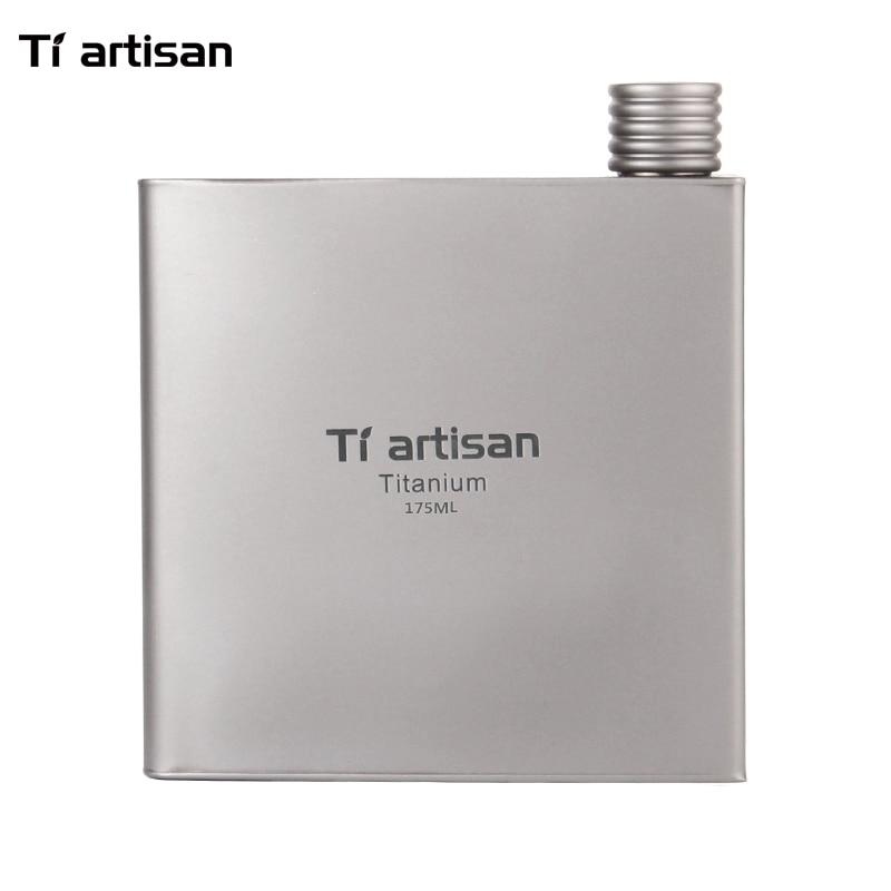Tiartisan 175ml Outdoor Portable Titanium Wine Flask Wine Cups Travel Ultralight Flagon Travel Drinkware Ta8602Ti