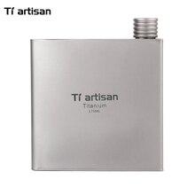 Tiartisan 175ml Outdoor Portable Titanium Wine Flask Cups Travel Ultralight Flagon Drinkware Ta8602