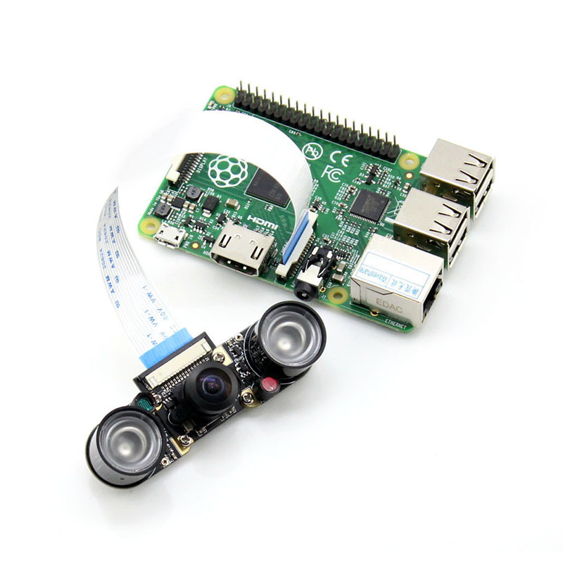 Image 5 - Fisheyes Raspberry Pi 3 Model B+ Plus Camera 160 Degree 5MP Night Vision Camera + Infrared Light Wide Angle RPI Camera-in Demo Board Accessories from Computer & Office