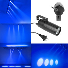 D1U# Portable 3W LED Blue Lighting Beam Spotlight Pinspot DJ Wedding Stage Light with US Plug