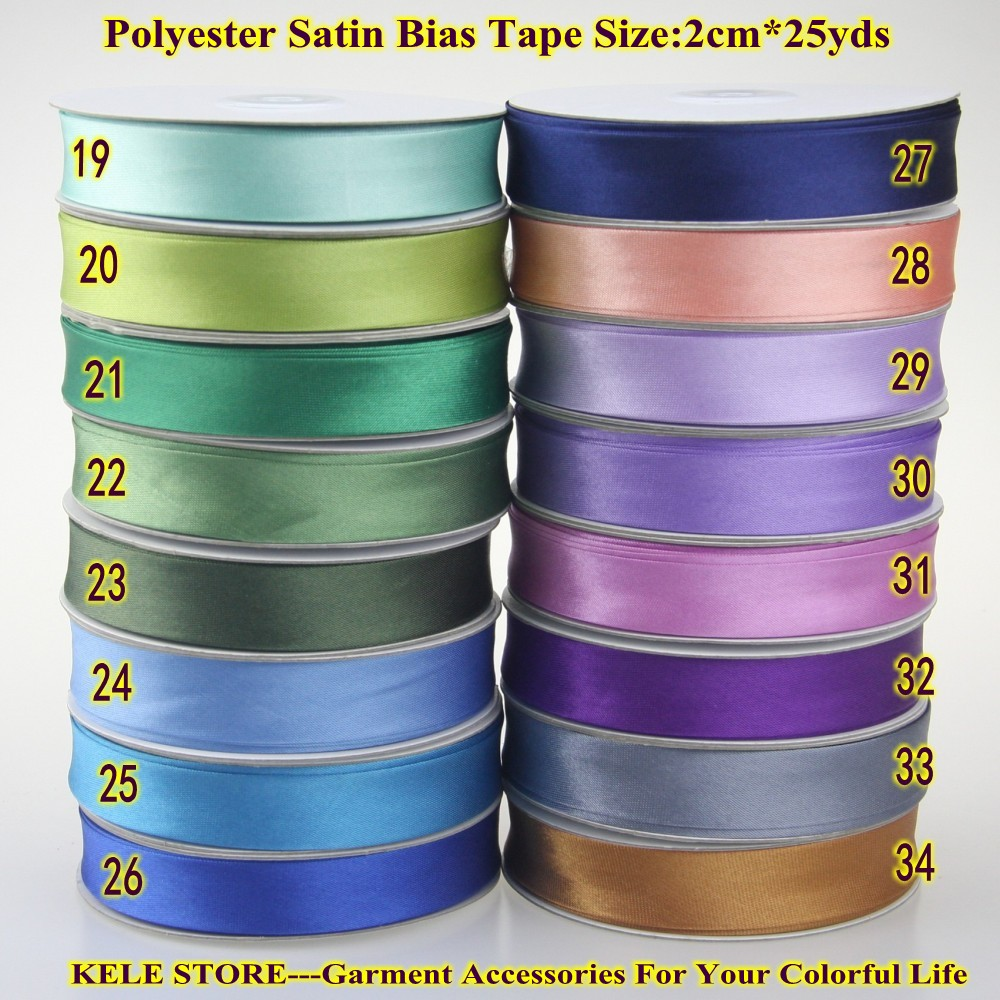 Free Shipping Polyester Satin Bias Binding Tape,bias