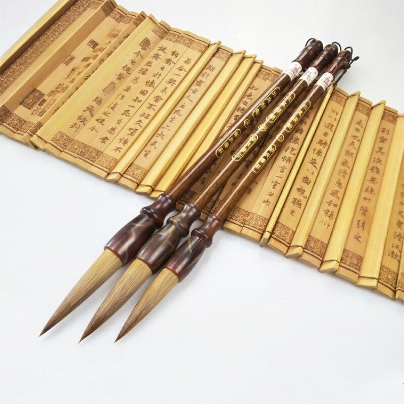 все цены на Calligraphy Brush Pens Gift Set Weasel Hair Brush Pen Chinese Traditional Calligraphy Painting Brush for Adult Children Writing