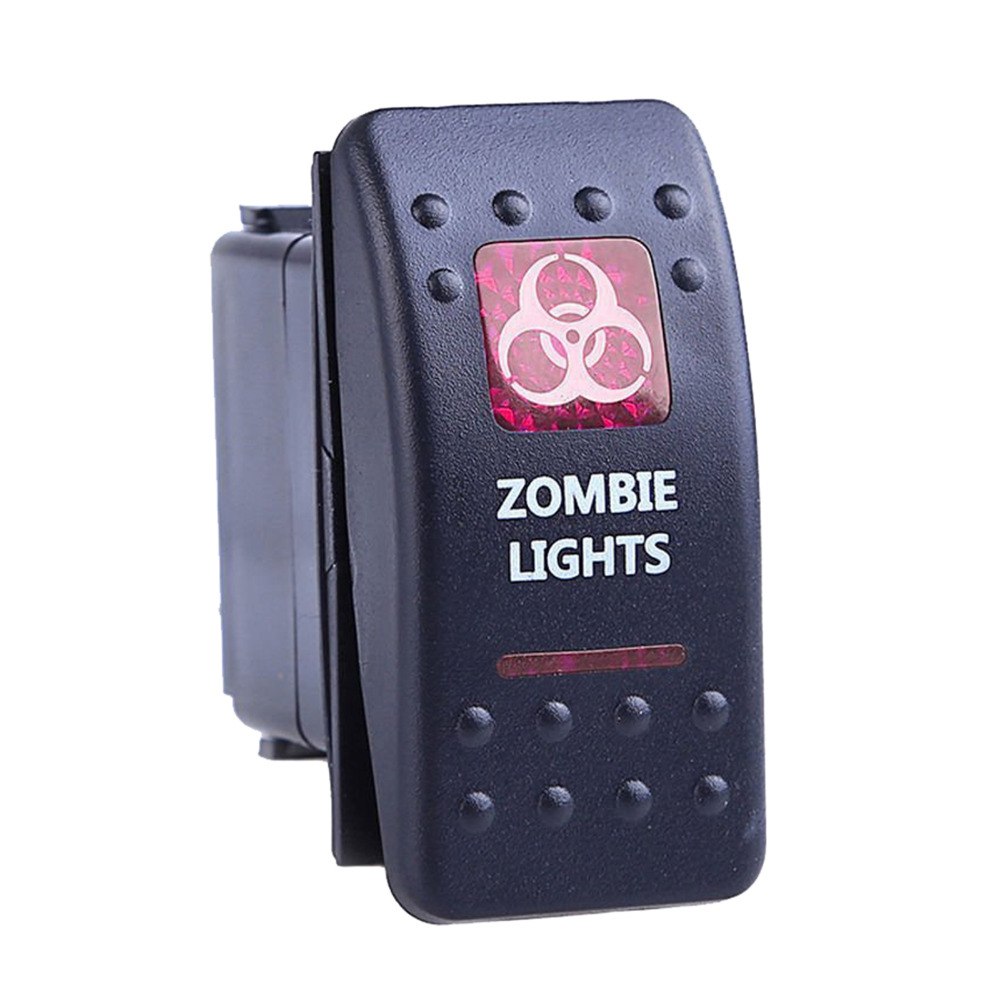12v 20a Bar Carling Rocker Toggle Switch Blue Red Led Zombie On Off For Car Truck Suv Light Boat Drop Shipping In Switches Relays From Automobiles Motorcycles