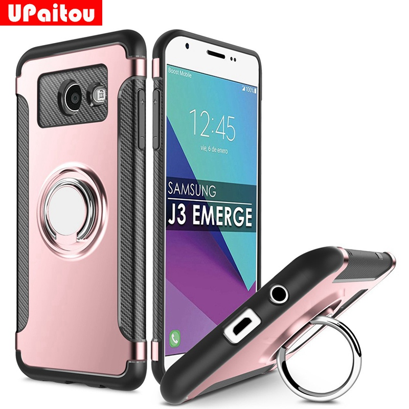 US $3 69 20% OFF|UPaitou 360 Ring Case for Samsung Galaxy J3 Emerge/J3  Prime/J3 Eclipse/Amp Prime 2 2017 J327 Case Magnetic Suction Bracket  Case-in