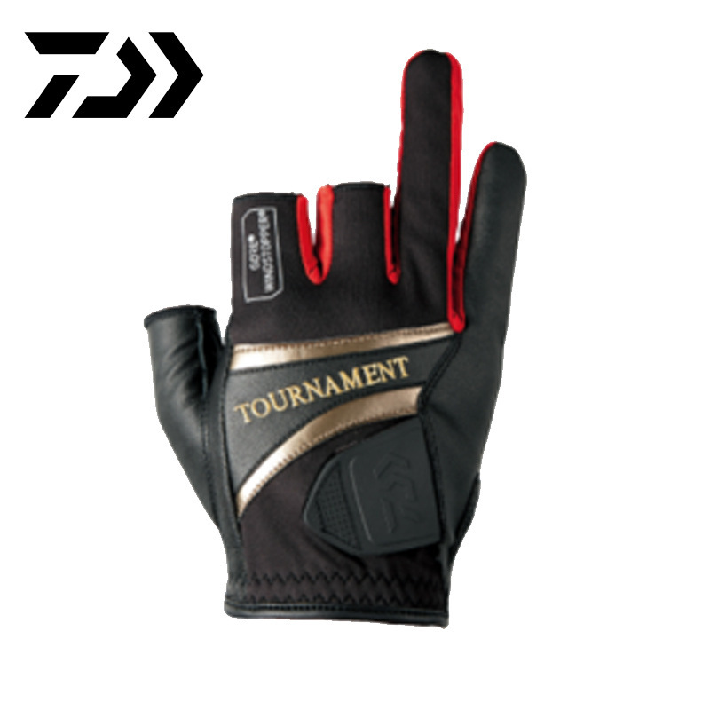 Daiwa Summer Dawa Durable Three Finger Fishing Glove Fishing Glove Non slip Elastic Force Skin Breathable