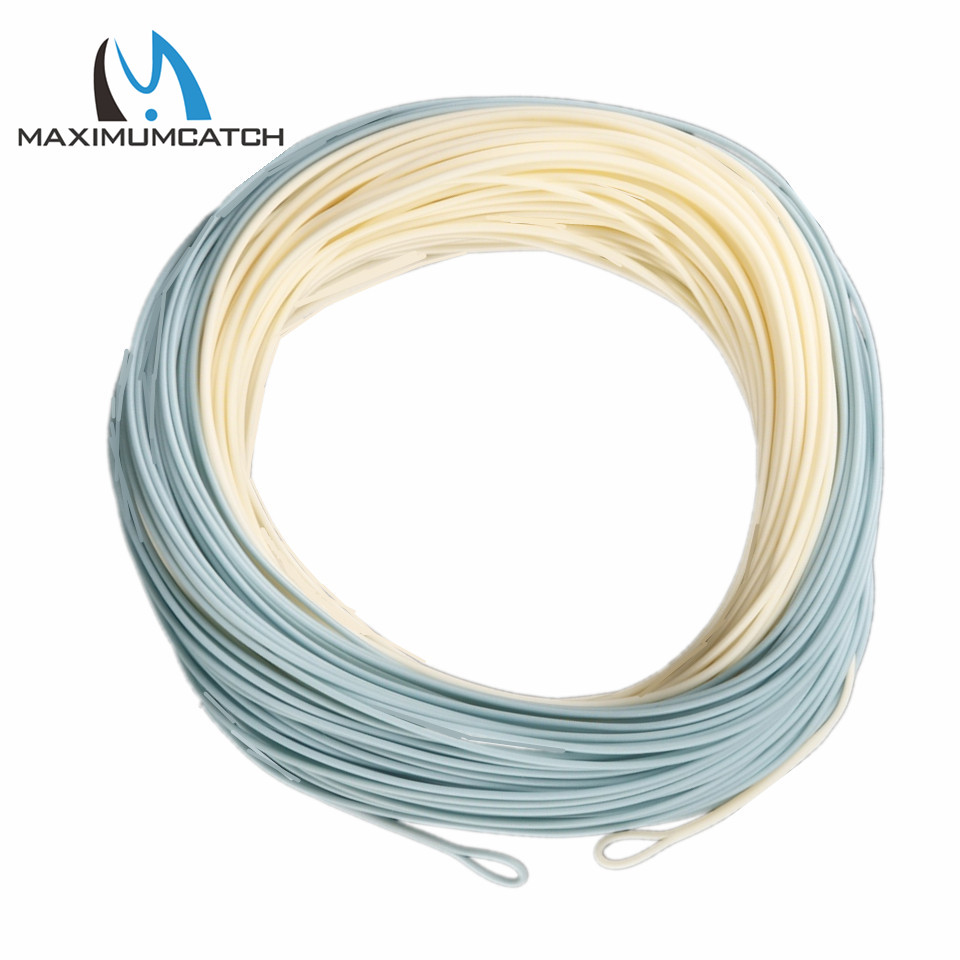 Maximumcatch bonefish fly line 100 ft 5wt 8wt sand blue for Best saltwater fishing line color