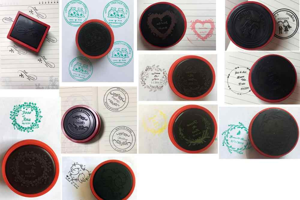 40MM Selo Do Casamento Com o SAVE THE DATE Auto tinta Personalizado Selo Fotossensível Para O Convite