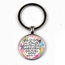 The most popular Bible verses keychain glass dome quote Christian custom jewelry  charm gift XKHLHJ