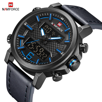 NAVIFORCE 9135 Fashion Men New Arrivals Digital Sport Quartz with box.
