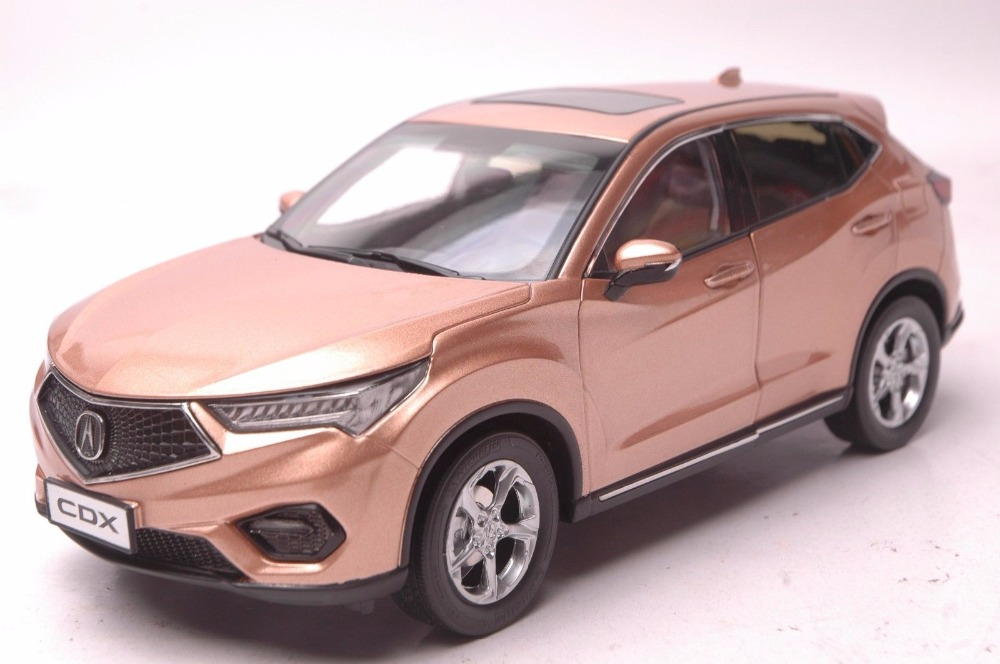 1:18 Diecast Model for Honda Acura CDX 2016 Gold SUV Alloy Toy Car Miniature Collection Gifts цена